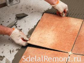 Технология укладки керамической плитки на пол фото