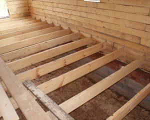 устройство пола в деревянном доме