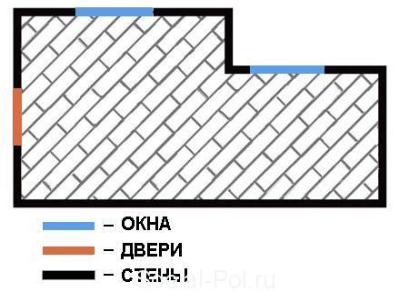 Схема диагональной укладки ламината