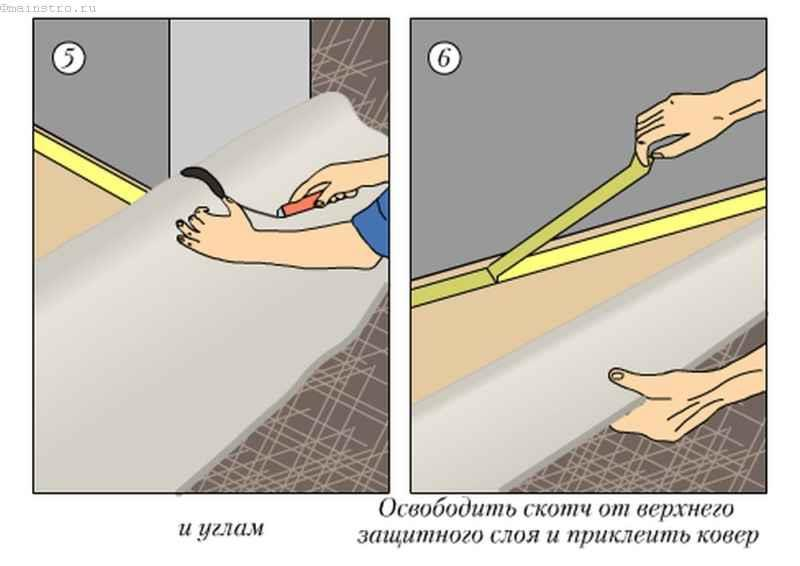 Крепление коврового покрытия на основе латекса