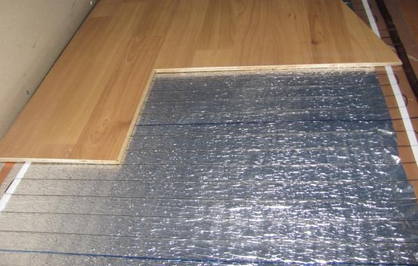 Подложка под ламинат на теплый пол