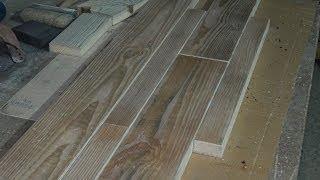 Половая доска в стиле кантри своими руками. DIY: Wood Flooring in country style.