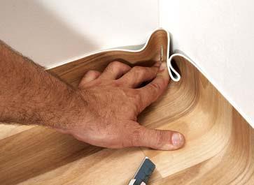 Укладка линолеума своими руками на кухне