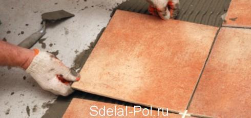 Укладка плитки на клей