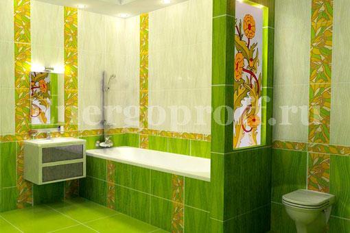 Укладка плитки на пол, стену в ванной, туалете в Санкт-Петербурге СПб