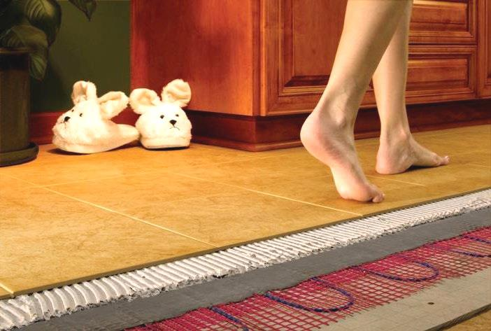 Теплые полы под плиткой