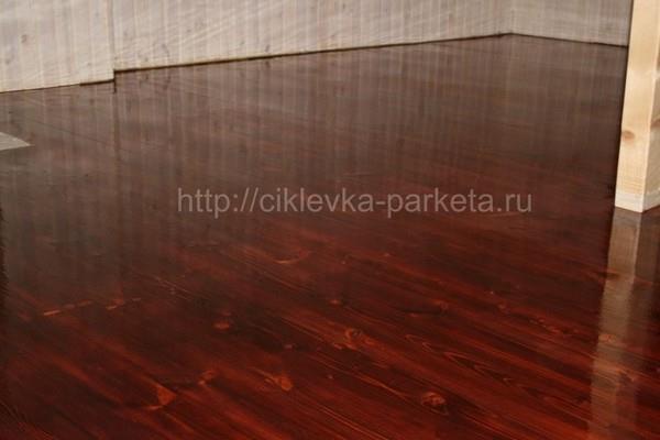 Тонировка паркета, деревянного пола