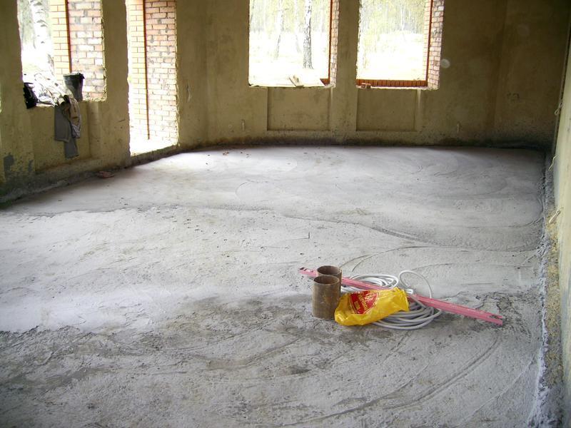 Фото 1 Подготовка основания под теплый пол
