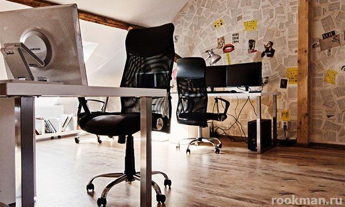 Ламинат толщиной 12 мм в офисе