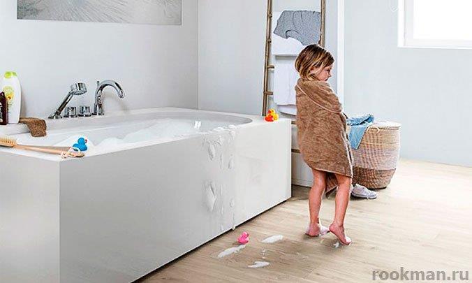 Виниловый ламинат для ванной: толщина 4мм
