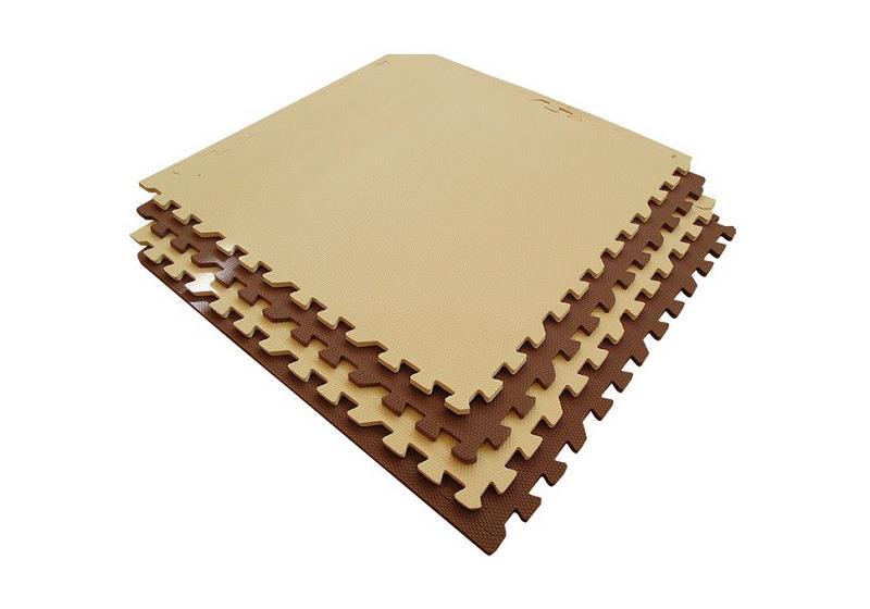 Мягкий пол 60x60 см (бежево-коричневый)