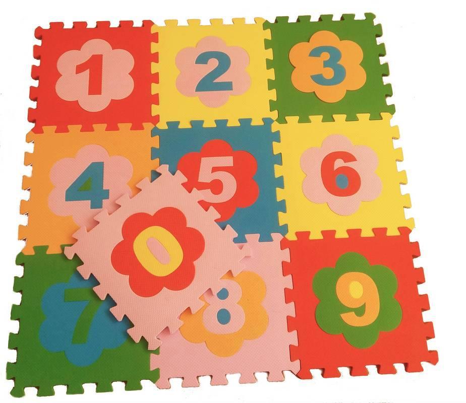 Детский мягкий пол Цифры 33х33