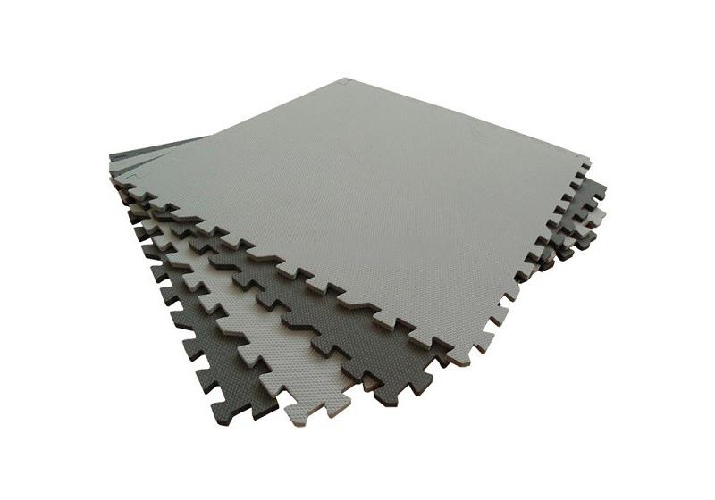 Мягкий пол 60x60 см (черно-серый)