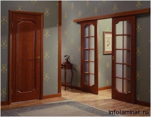 сочетание ламината и дверей - принцип контраста