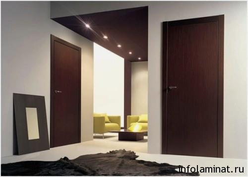 правила сочетания ламината и дверей