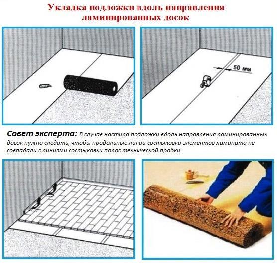 Схема монтажа подложки
