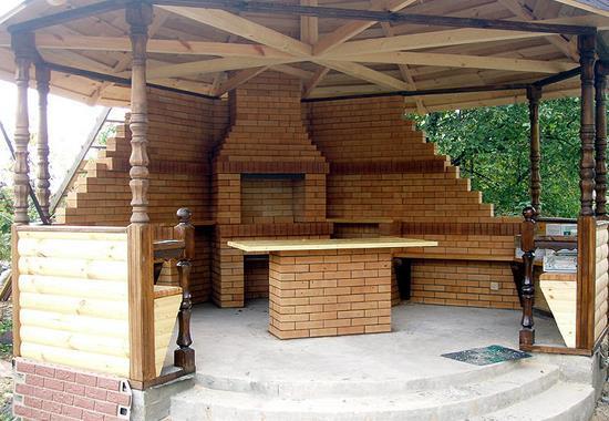 бетонный пол для летней беседки