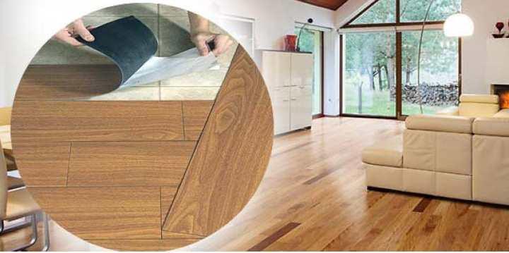 Внешний вид комнаты с виниловой плиткой