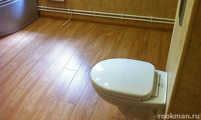 Ламинат 33 класса водостойкий в туалете