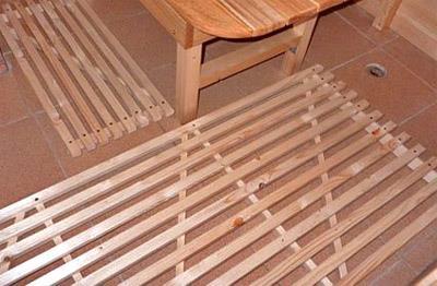 Деревянный настил по бетонному полу (фото)