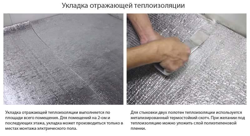 Фото: Настил и подгонка теплоотражающего покрытия