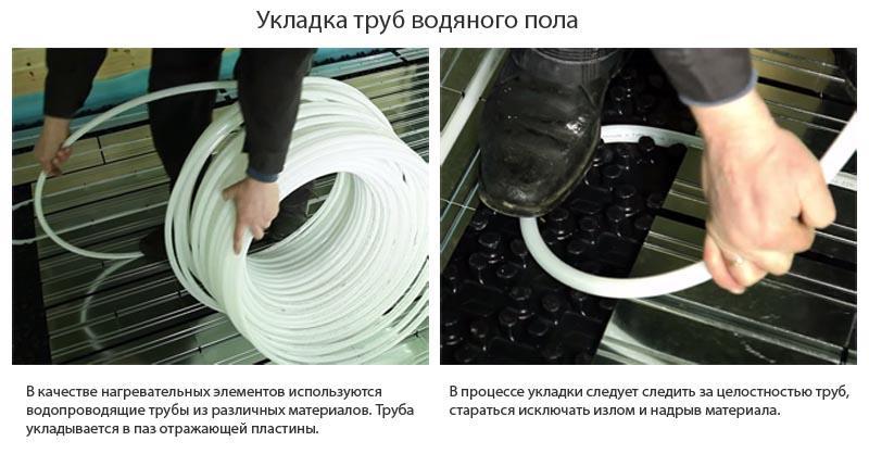 Фото: Основные моменты раскладки труб в паз на пластинах
