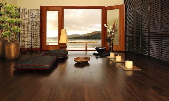 Однополосный ламинат для интерьера в японском стиле