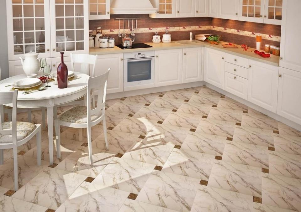 Красивая плитка для пола на кухню