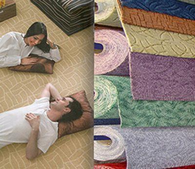 На полу из ковролина приятно отдохнуть