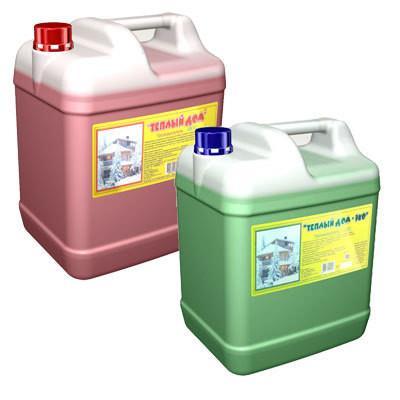 Незамерзающая жидкость для систем отопления Теплый дом