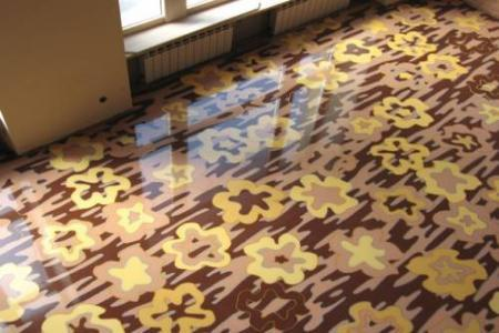 Наливные полы с декоративным трехмерным эффектом, напольное покрытие