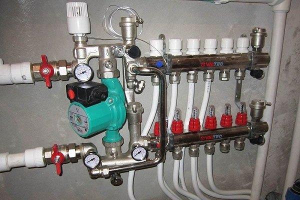 Смесительный узел для регулировки теплоносителя