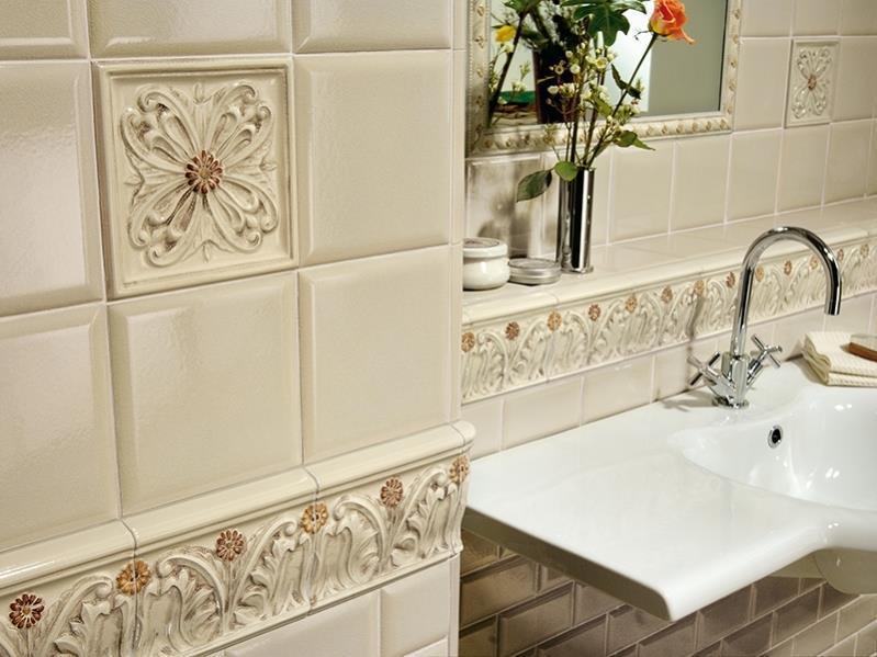 Плитка 15х15 на стенах в ванной