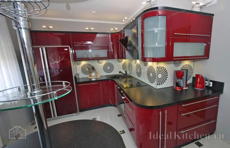 Радиусные фасады для кухни в современном и классическом стиле
