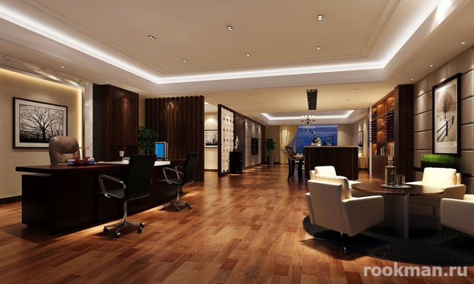 Фото интерьера гостиной с ламинатом 33 класса