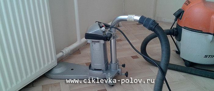 циклевка паркета без пыли в СПб