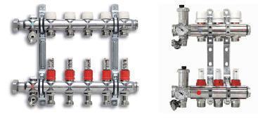 Коллектор системы водяного теплого пола с расходомерами