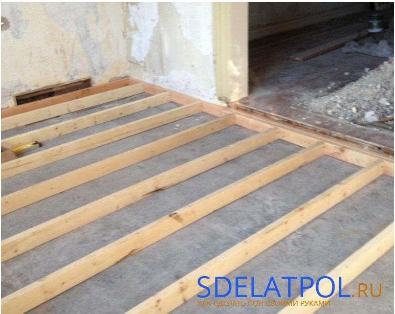 Лаги на бетонной основе