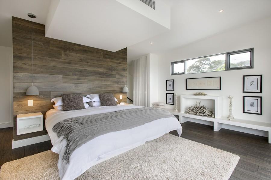 Дизайн спальни с использованием ламината