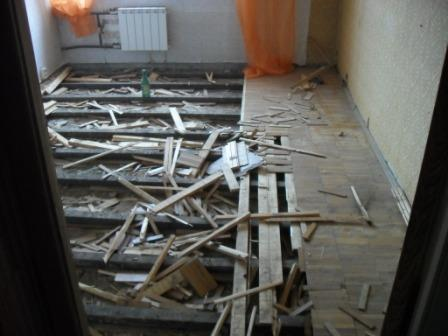 Демонтаж старого паркета в Санкт-Петербурге