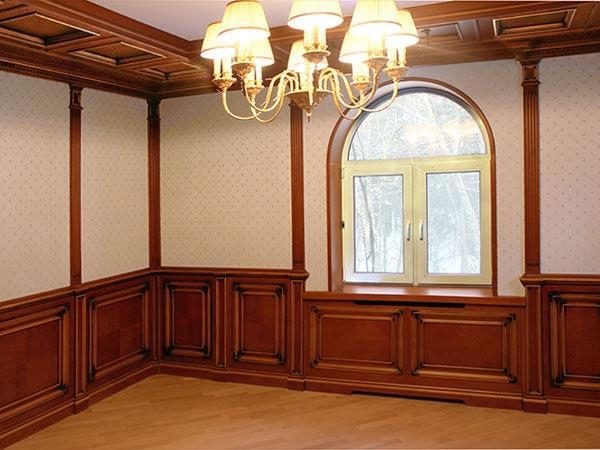 Деревянные стеновые панели в интерьере