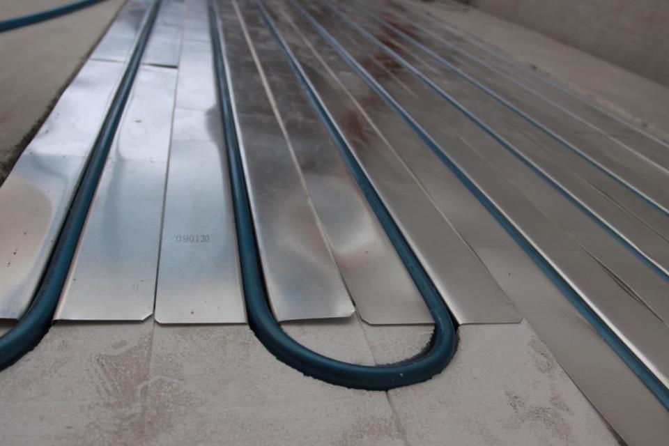 Настильная система укладки водяного теплого пола