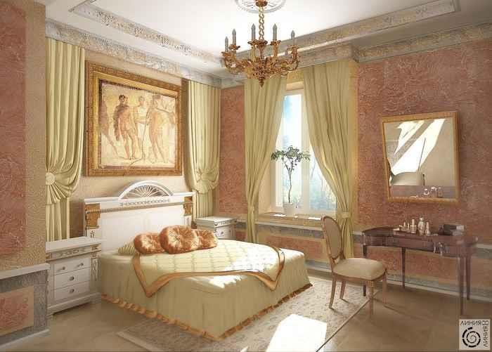 Дизайн спальни для девушки 20 лет и интерьер каминной зоны