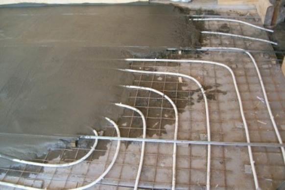 Наливные полы с подогревом