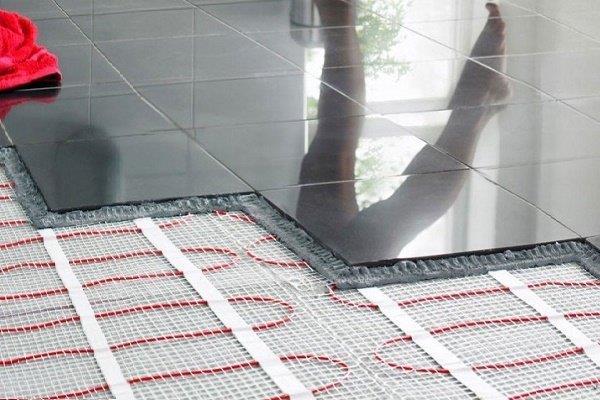 Электрический теплый пол под плиткой