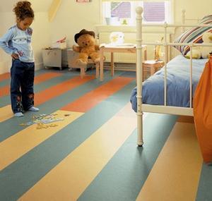 линолеум в детской спальне