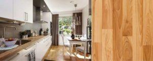 Коричневый ламинат в интерьере кухни