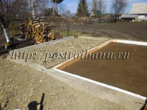 Монолитный фундамент для бани.