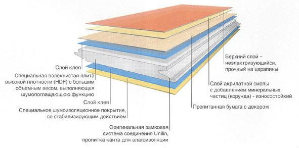 Особенности строения ламината
