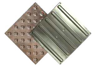 Тактильная стальная плитка для помещений